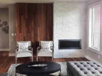 White Stone Tile Fireplace | Fireplace Designs