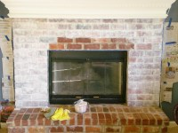 White Washing Brick Fireplace | Fireplace Designs