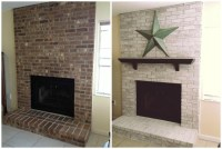 Whitewash Brick Fireplace Before And After | Fireplace Designs