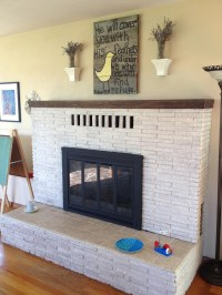 Whitewash Brick Fireplace Pictures | Fireplace Designs