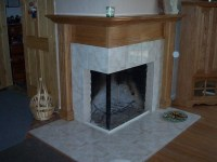 Wood Tile Fireplace Surround | Fireplace Designs