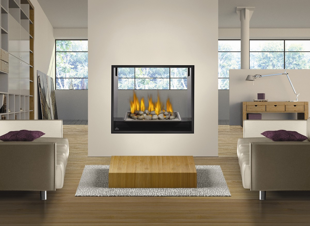 Peninsula Gas Fireplace 2 Sided Gas Fireplace Inserts | Fireplace Design Ideas