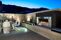 Contemporary Outdoor Fireplace Plans