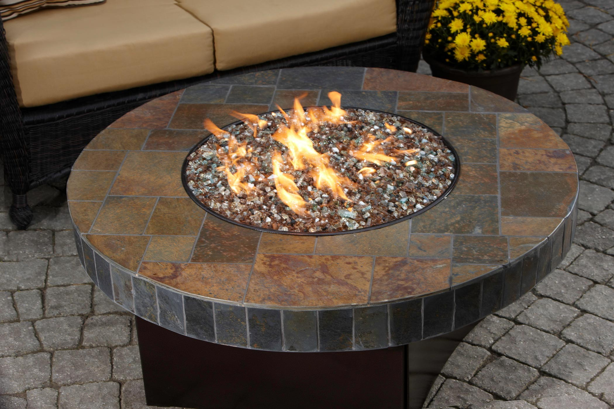 DIY Gas Fire Pit Table  FIREPLACE DESIGN IDEAS