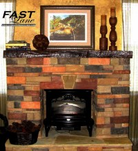 Faux Stone Fireplace Mantel | FIREPLACE DESIGN IDEAS