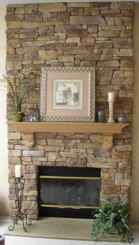 Faux Stone Veneer Fireplace