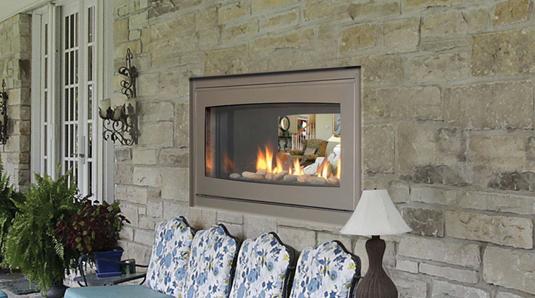 Gas Fireplace Indoor Indoor Outdoor Gas Fireplace | Fireplace Design Ideas