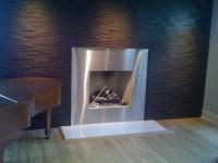Metal Fireplace Surround | FIREPLACE DESIGN IDEAS