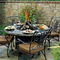 Outdoor Patio Furniture With Fire Pit   FIREPLACE DESIGN IDEAS