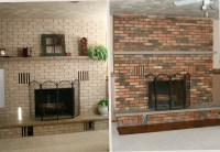 How To Paint An Old Brick Fireplace. Painting Brick