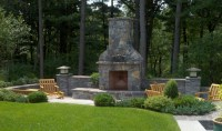 Patio Chimney Fire Pit | FIREPLACE DESIGN IDEAS