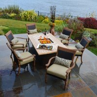 Patio Dining Table With Fire Pit | FIREPLACE DESIGN IDEAS