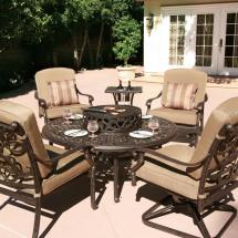 Patio Furniture Fire Pit Set Fireplace Design Ideas
