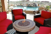 Patio Furniture Set With Fire Pit Fireplace Design Ideas
