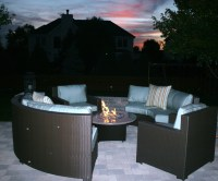 Patio Furniture With Fire Pit   FIREPLACE DESIGN IDEAS