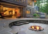 Patio Ideas With Fire Pit | FIREPLACE DESIGN IDEAS