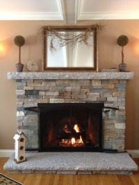 Reface Fireplace With Stone Veneer | FIREPLACE DESIGN IDEAS