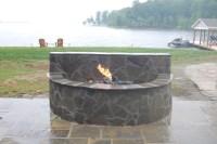Stone Fire Pit Designs | FIREPLACE DESIGN IDEAS