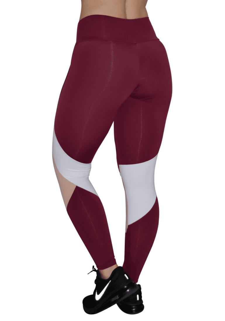 OXYFIT Leggings Cutouts 64056 Burgundy Sexy Workout Leggings