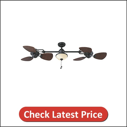Harbor Breeze Twin Bronze Outdoor Downrod Ceiling Fan