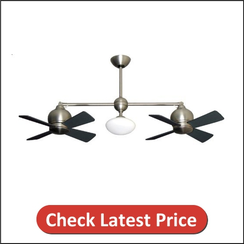 Metropolitan Modern Double Ceiling Fan with Light & Remote