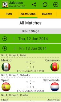 World Cup 2014 Tracker App