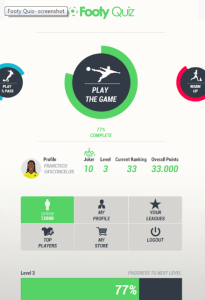 Footy Quiz on Android