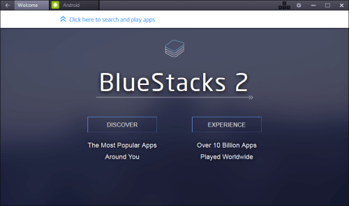 BlueStacks - First Run - Running Android Apps On PC