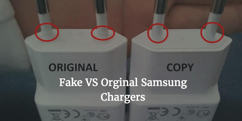 fake vs orignal charger