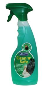 Johnsons Clean n Safe Small Animal Disinfectant — Best cat litter for indoor cats