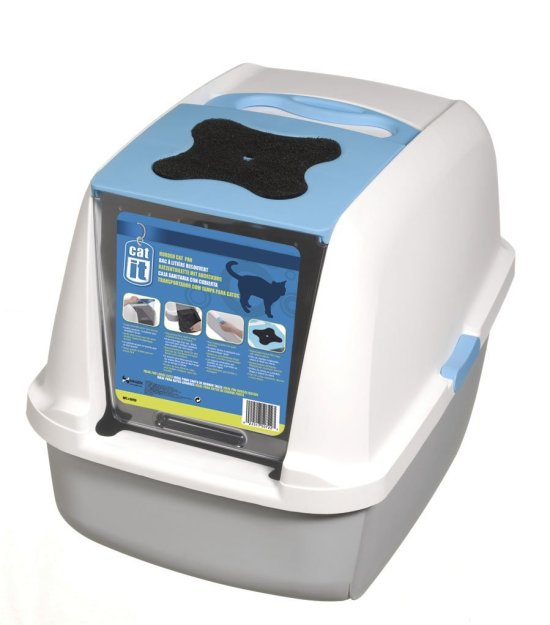 Catit Style Hooded Cat Litter Box — Best cat litter for indoor cats