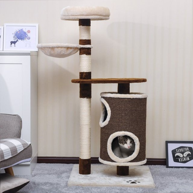 PURLOVE® Large Cat Tree Cat Scratcher Activity Centre