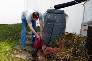 How to clean a rain barrel