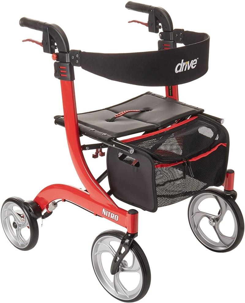 Drive Medical Nitro Euro Style Rollator Walker Is The Best Narrow Walker For Seniors
