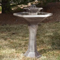 Concrete Bird Bath Fountain | Fountain Design Ideas