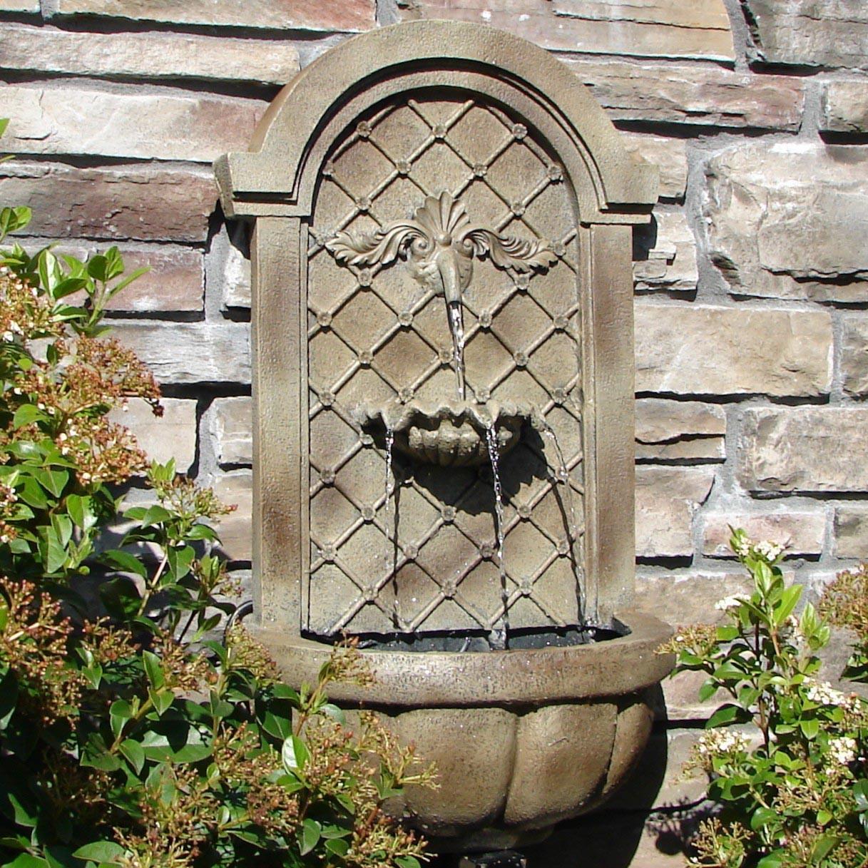 Garden Wall Fountains Outdoor