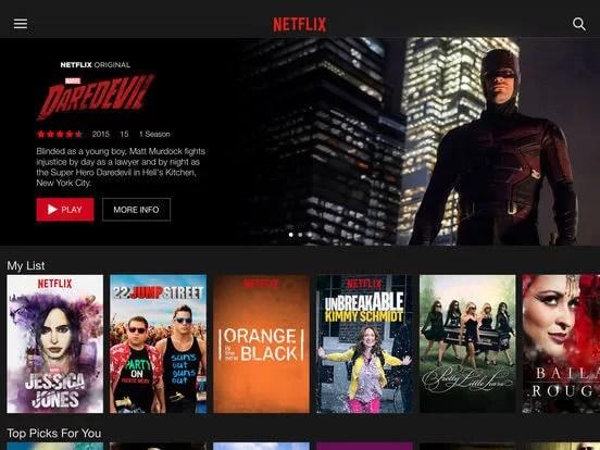 Download Netflix for iPad