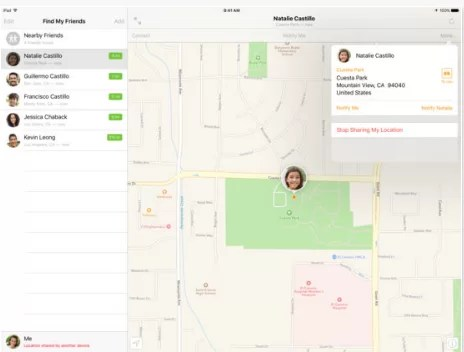 Find My Friends for iPad