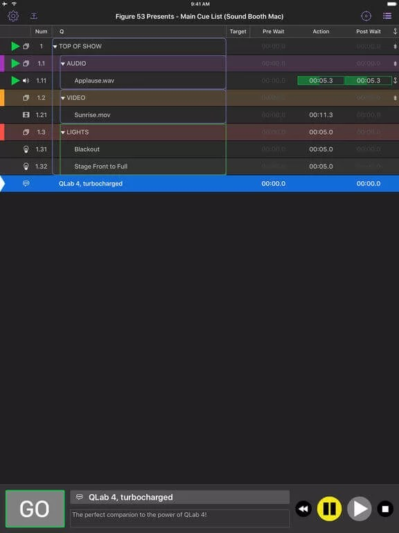 Download QLab for iPad