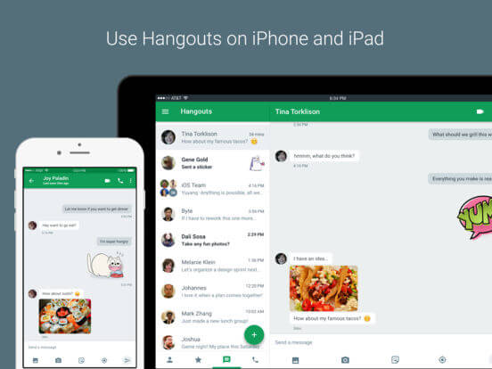 Download Hangouts for iPad