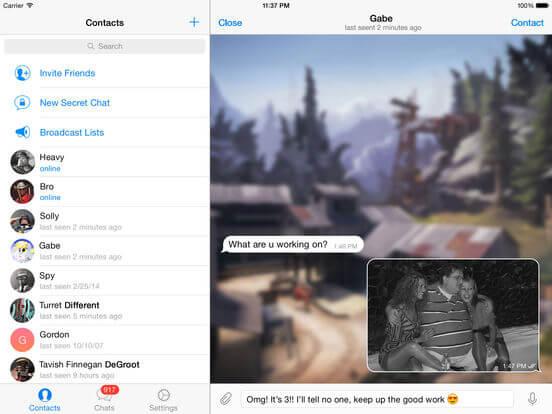 Download Telegram for iPad