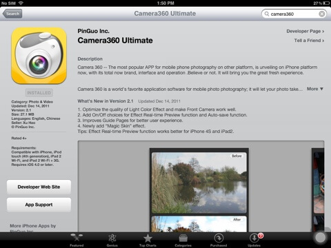Download Camera 360 for iPad