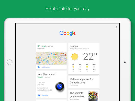Download Google App for iPad