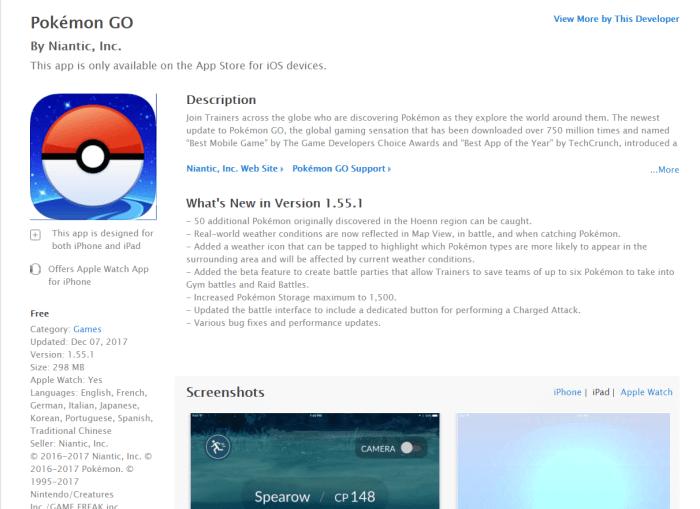 Download Pokemon Go for iPad