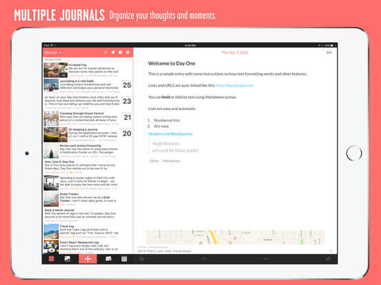 Download Journal App for iPad