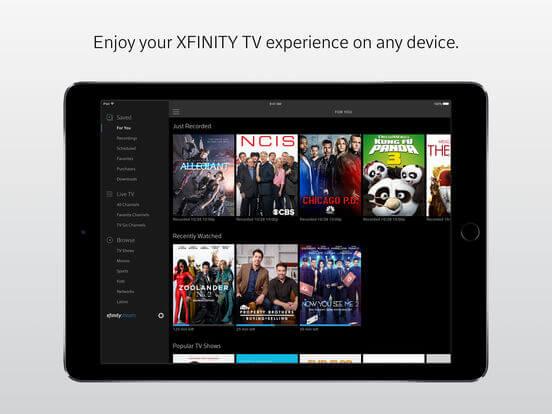 Download Xfinity App for iPad