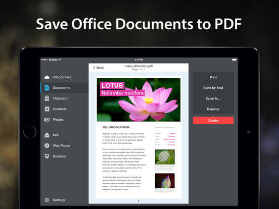 Download PDF Converter for iPad