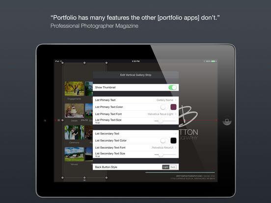 Download Portfolio App for iPad