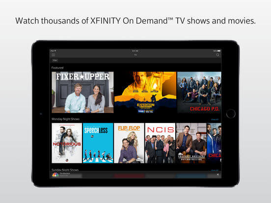 Download Xfinity App for iPad