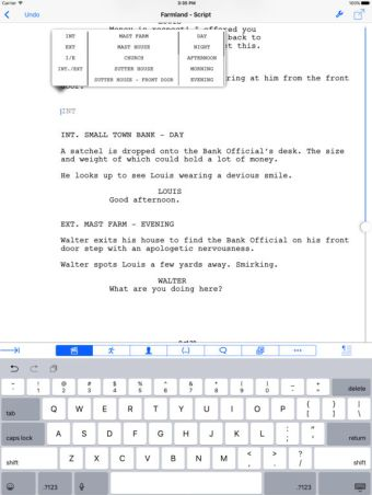 Final Draft for iPad Free Download